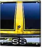 Yellow '71 Ss Acrylic Print