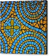 Yellow And Blue Mosaic Acrylic Print