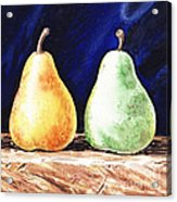 Yellow And Green Pear Acrylic Print