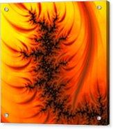 Yellow And Orange Fractal Fire Acrylic Print