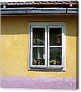 Yellow And Pink Facade. Belgrade. Serbia Acrylic Print