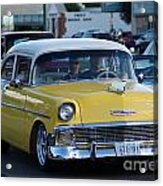 Yellow And White Classic Chevy Acrylic Print