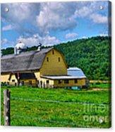 Yellow Barn Acrylic Print