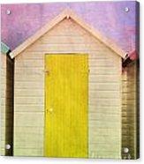 Yellow Beach Hut Acrylic Print