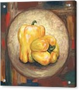 Yellow Bell Peppers Acrylic Print