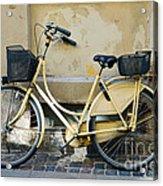 Yellow Bicycle In Copenhagen Acrylic Print