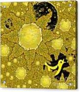 Yellow Bird Sings In The Sunflowers Acrylic Print