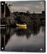 Yellow Boat Acrylic Print