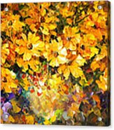 Yellow Bouquet - Palette Knife Oil Painting On Canvas By Leonid Afremov Acrylic Print