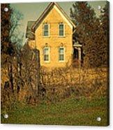 Yellow Brick Farmhouse Acrylic Print