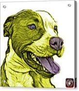 Yellow Bull Fractal Pop Art - 7773 - F - Wb Acrylic Print