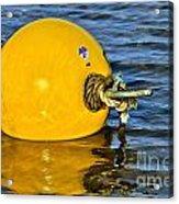 Yellow Buoy Acrylic Print