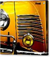 Yellow Cab Frontal Acrylic Print