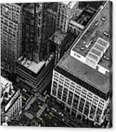 Yellow Cabs - Bird's Eye View Acrylic Print