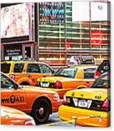 Yellow Cabs Acrylic Print