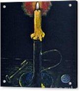 Yellow Candle Acrylic Print