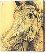 Yellow Carousel Horse Acrylic Print
