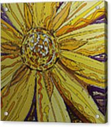 Yellow Chakra Acrylic Print