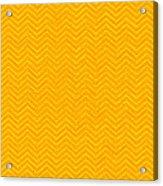 Yellow Chevron Waves Acrylic Print