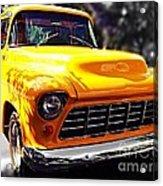 Yellow Chevy Acrylic Print