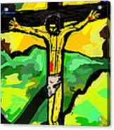 Yellow Christ  After Gauguin Acrylic Print