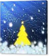 Yellow Christmas Tree Acrylic Print