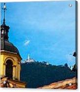Yellow Church And Monserrate Acrylic Print