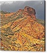 Yellow Colored Rock Along The Apache Trail Acrylic Print