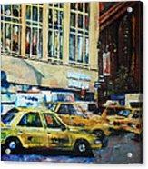 Yellow Congestion Acrylic Print