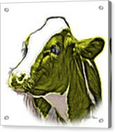 Yellow Cow Holstein - 0034 Fs Acrylic Print