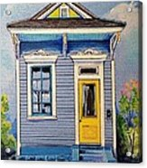 Yellow Door Shotgun  Acrylic Print