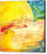 Yellow Explosion Acrylic Print