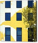 Yellow Facade In Berlin Acrylic Print