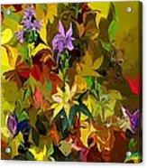 Yellow Fantasy Flower Garden Acrylic Print