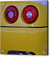 Yellow Ferrari Tail Lights Acrylic Print