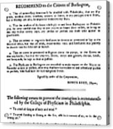 Yellow Fever, 1793 Acrylic Print