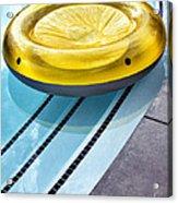 Yellow Float Palm Springs Acrylic Print
