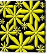 Yellow Flower Power 3d Digital Art Acrylic Print