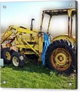 Yellow Ford Tractor Acrylic Print