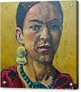 Yellow Frida Acrylic Print