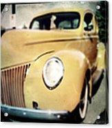 Yellow Gangsta Street Rod Acrylic Print