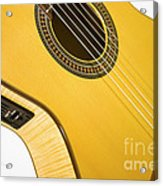 Yellow Guitar Acrylic Print