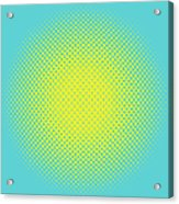 Optical Illusion - Yellow On Aqua Acrylic Print