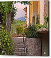 Yellow House In Eze France Acrylic Print