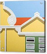 Yellow House Acrylic Print