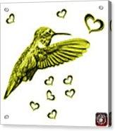 Yellow Hummingbird - 2055 F S M Acrylic Print