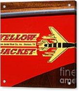 Yellow Jacket Outboard Boat Acrylic Print