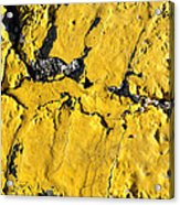 Yellow Line Abstract Acrylic Print