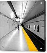 Yellow Line Acrylic Print