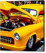 Yellow Machine Acrylic Print